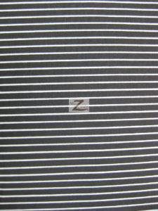 "1/8"" Striped Polycotton Fabric Black"