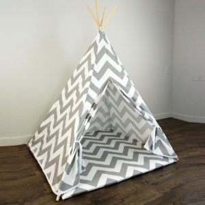 Chevron Poly Cotton Kids Play Teepee
