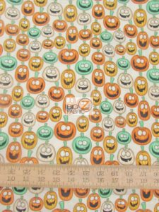 A Haunting We Will Go Happy Pumpkins By RJR Fabrics