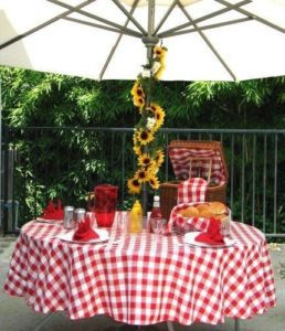 Checkered Gingham Tablecloth