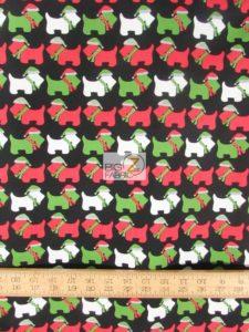 Jingle 3 Christmas Dogs Black By Robert Kaufman
