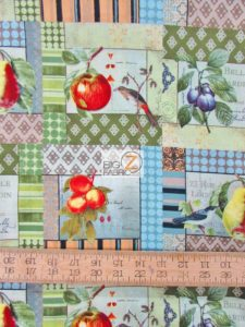 Birds And Pear Patch By David Textiles