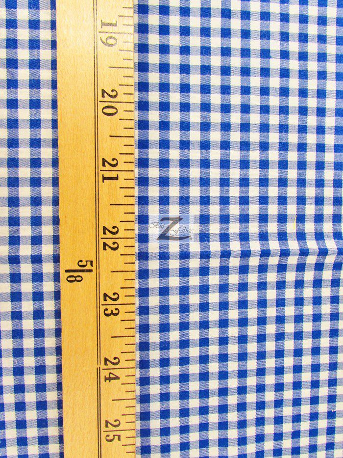 Mini Checkered Gingham Poly Cotton Printed Fabric Measurement