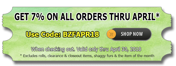 April 2018 Cotton Fabric Discount