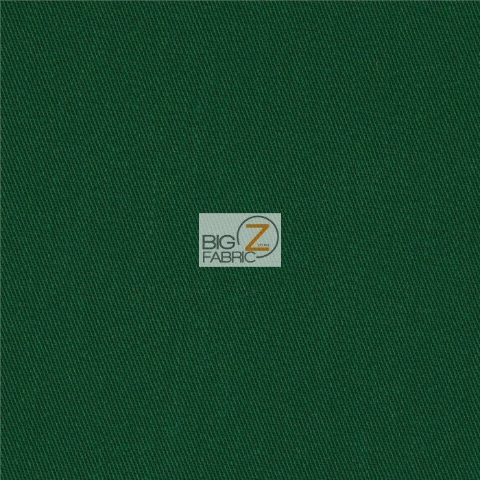 Hunter Green Reversible Poly Cotton Twill Fabric