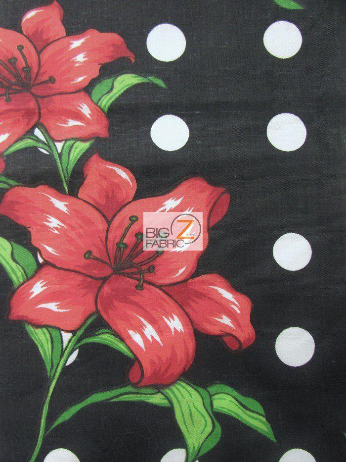 Polka Dot Bellflower Poly Cotton