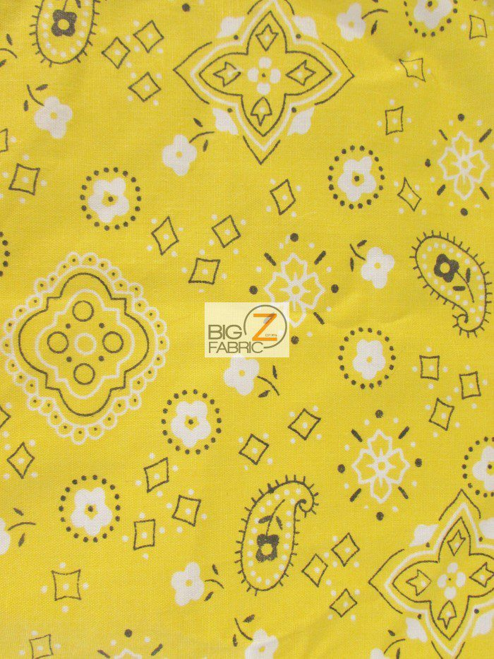 Poly Cotton Bandana Fabric