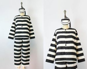 inmate costume on maniquin