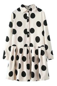 big polka dot pattern poly cotton